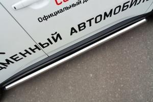 Mitsubishi Outlander 2014- Пороги труба d63 (вариант 2) MORT-001894